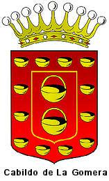 cabildo, la gomera, governement, red, yellow, crown